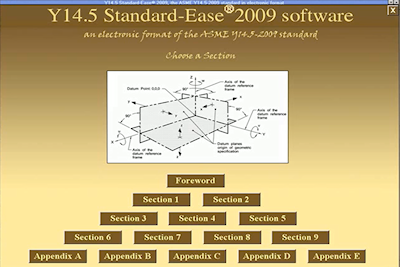 Standard-Ease - Electronic Format of the ASME Y14.5-2009 Standard